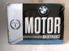 BMW MOTOR MAINTENANCE Number 1 Blechschild  30x40 cm. NEU/OVP