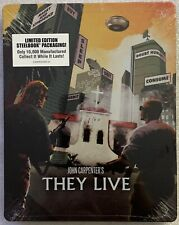 NEW JOHN CARPENTERS THEY LIVE BLU RAY RARE OOP MINT STEELBOOK SHOUT FACTORY BUY
