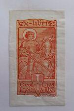 ✒ EX LIBRIS Georges Liouville par Florimond van Acker (1858-1940 - Saint Georges