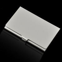 Business Card Storage Box Aluminum Metal Business ID Card Holder Case Waterproof