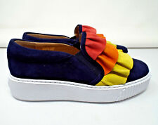 NEW***SESTO MEUCCI Sz 38/7.5M suede FASHION SNEAKERS navy blue multi!!