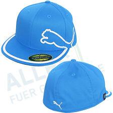 Puma MONOLINE 210 Fitted Flat Bill Cap Bleu/blanc coupe parapluie L/xl (59-65 CM)