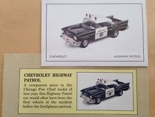 Corgi Classics Limited Edition certificate for Chevrolet Highway Patrol