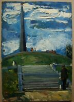 Russian Ukrainian Soviet Oil Painting impressionism memorial monument WW2