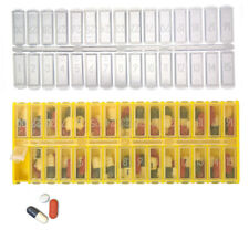 30 Day Pill Box Organizer with Removable Reusable Lid & Bonus 2nd Lid  Item 1004