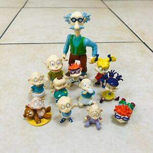 Vintage 90s Viacom Nickelodeon Rugrats Toy Figures Bundle Tommy, Grandpa