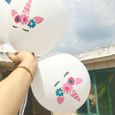 """5x 12"""" Unicorn Sweet Themed Latex Printed Balloons Birthday Party Au Seller a"""