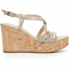 Sandalo nuova collezione NeroGiardini P717660D Vera pelle lucida zeppa offerta