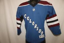 Authentic Colorado Avalanche Youth S/M Hockey Jersey NHL REEBOK small medium