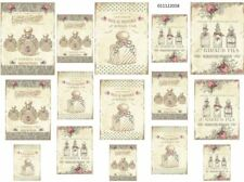 VinTaGe IMaGe AsSoRTeD PaRiS FReNcH PeRFuMe LaBeLs ShaBby WaTerSLiDe DeCALs