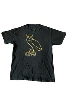 Ovo Gold Owl Size L Large October's Very Own Drake T Shirt Black