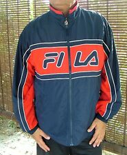 FILA giacca uomo vintage Rosso blu bianco T.52