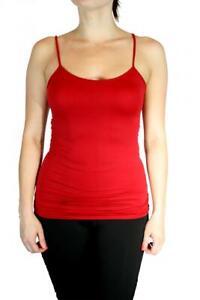 "Women Long Cami Tank Seamless Stretch Layering Spaghetti Strap 25"" Top"