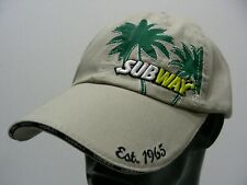 SUBWAY - EST.1965 - PERDUE - BEIGE - ONE SIZE ADJUSTABLE BALL CAP HAT!