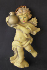 Vintage Plastic Angel Ornament Angel Holding Urn Ornament 6� Angel Ornament