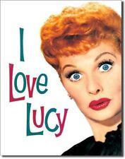 Grand-I Love Lucy Lucille Ball comédie actrice Métal Mur plaque étain signe 708