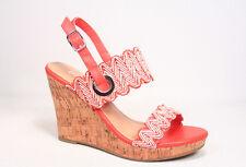 Women's Fashion Slingback Buckle Wave Band Wedge Platform Sandal Size 5.5 - 11