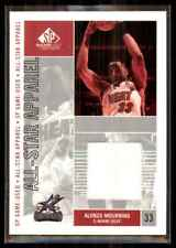 2002-03 Sp Game Used All-Star Apparel Alonzo Mourning Jersey #Amas