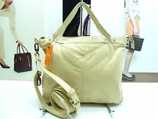 NWT Latico Satchel Bag Almond Leather 2 Front Slip Pockets Antique Ornaments