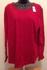 GAP Women's XXL Red Long Sleeve Casual Shirt Blouse L3
