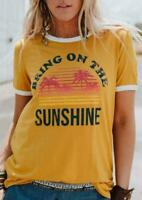 Sunshine Short Sleeve Women T-Shirt All size available