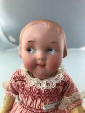 """7"""" Antique German Bisque Head Googly Doll AM 210! Rare Intaglio Eyes!"""