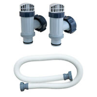 Intex Plunger Valves Replacement Part (2 Pack) and Pool Pump Replacement Hose
