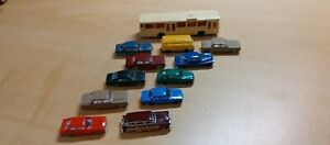 Large Lot N Scale Cars w/Bus