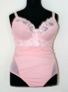 SEXY HOT PINK BODYSUIT CORSELETTE Size 46 C