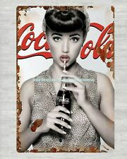 US Seller- sexy coca cola girl metal tin sign room decoration items