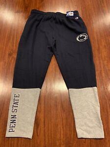 Champion Men's Penn State PSU Football Navy Gray Jersey Sweatpants Pants XXL 2XL