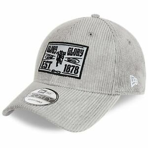 Manchester United New Era Cord Pack 9FORTY Adjustable Hat - Gray