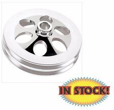 Billet Specialties Power Steering Pulley - Press-on - 2-groove 86520