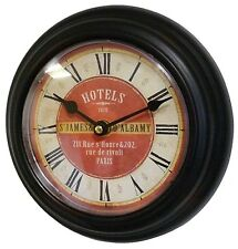 style ancienne petite horloge pendule de cuisine campagne bureau d entrèe 21cm