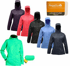 REGATTA LADIES / WOMENS LIGHTWEIGHT BREATHABLE WATERPROOF JACKET IN A BAG 10-26