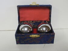 """Chinese Exercise Balls - Chrome - Soothing sound - 1.50"""""""