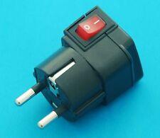 Universal USA UK AUS to Germany Schuko Korea Travel Adapter AC Power Plug Switch