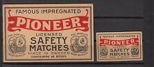 Ancienne  étiquette   allumettes Suède  AZ426   Pioneer