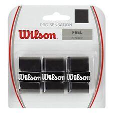 WILSON PRO SURGRIP SENSATION NOIR PACK DE 3 TENNIS SURGRIP, PADEL TENNIS