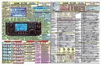 ICOM IC-746  AMATEUR HAM RADIO DATACHART EXTRA LARGE GRAPHIC INFORMATION