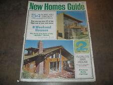 NEW HOMES GUIDE HOUSE BUILDING  MAGAZINE RETRO INTERIOR DESIGNER 1964 RARE
