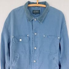 Vtg Ralph Lauren Polo Country Dungarees Made in USA Cotton Canvas Jacket Blue