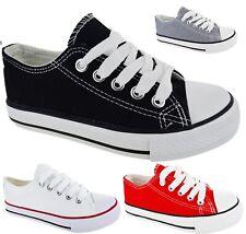 Chicos Chicas Niños Niños Zapatillas Zapatos entrenador Plimsoles cómodos al aire libre tamaño plana