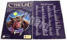 Il Richiamo di Cthulhu SCHERMO DEL CUSTODE 1990 Stratelibri #1001 USATO RARO