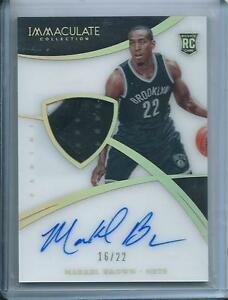 2014-15 Panini Immaculate RC Rookie Patch Autograph Acetate Markel Brown /22