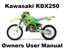 KDX250 - Owners Workshop User Manual PDF on CD-R for KDX 250