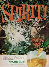 1960  LABATT'S  50 ALE:   Beer & Fishing    Magazine  PRINT AD