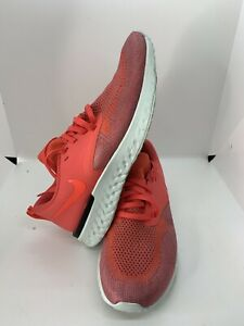 Nike Womens Odyssey React 2 Flyknit AH1016-800 Ember Glow Running Shoes Size 8