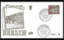 ALT BERLIN 1962 2x ERSTTAGSBRIEF FDC MINR 221 + 223 ERSTAUSGABE GESTEMPELT