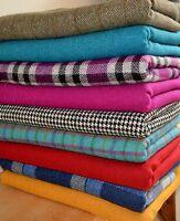 HARRIS TWEED FABRIC & LABELS Tartan 100% wool craft herringbone sewing quilting.